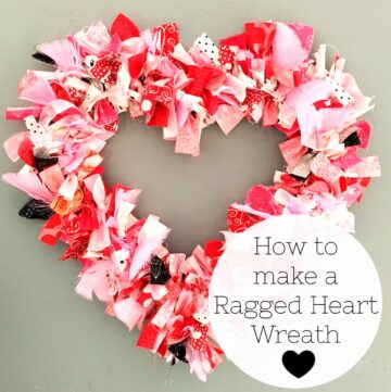 Heart Fabric Rag Wreath Tutorial