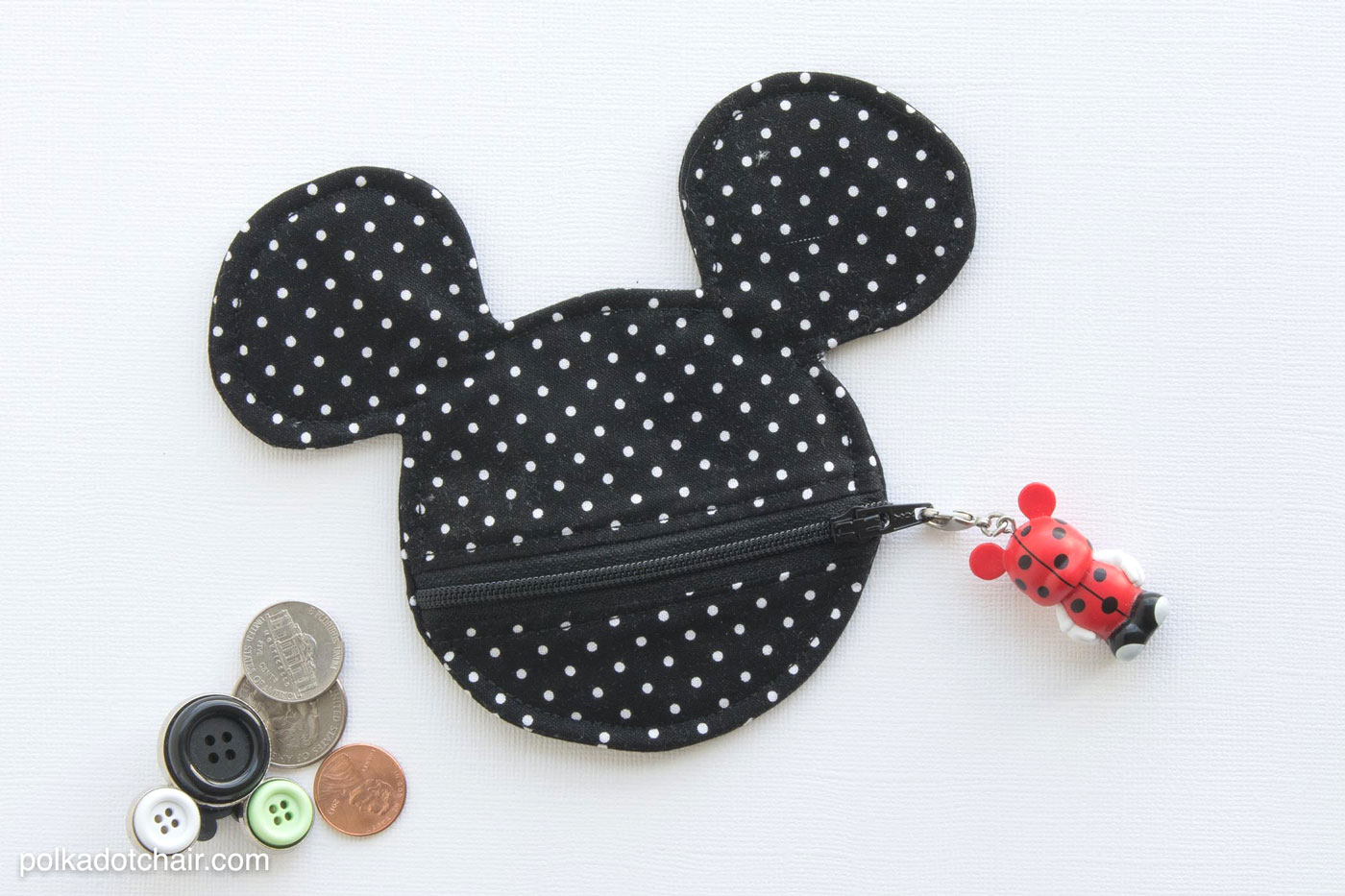 free sewing pattern for a mickey mouse inspired coin pouch