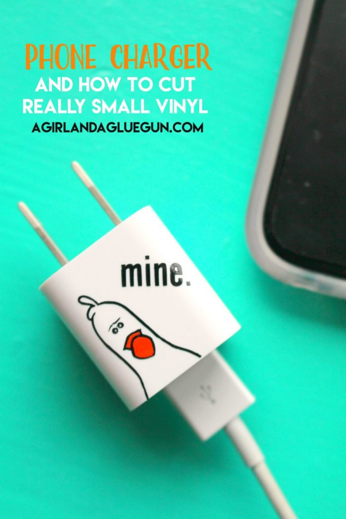 Cute DIY charger decal