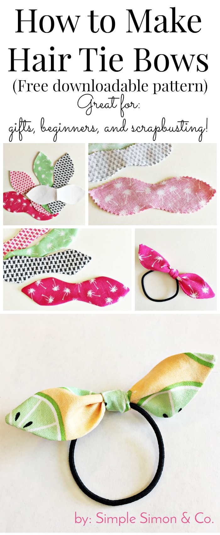 How to Make Knotted Hair Ties - The Polka Dot Chair