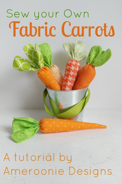 how to sew fabric carrots