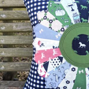 Dresden Pillow by Heidi Staples using Derby Day Fabric