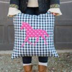 DIY Horse Applique Pillow Pattern