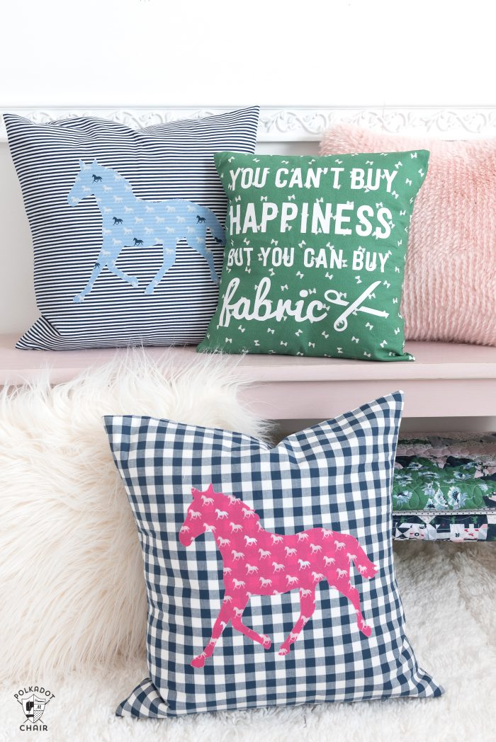 DIY Horse Applique Pillow Pattern - The Polka Dot Chair