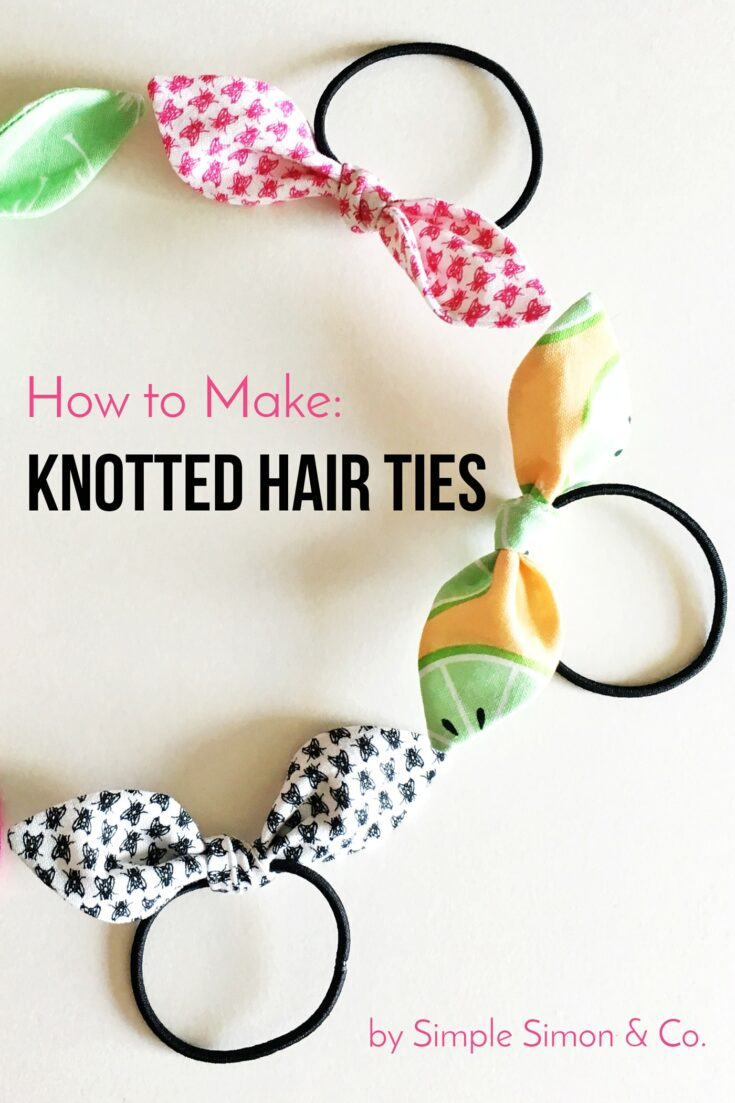 Stitch up some Knotted Hair Ties