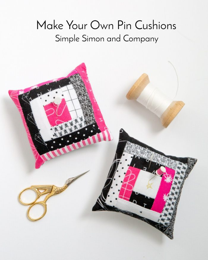 Learn how to make quilt block pin cushions