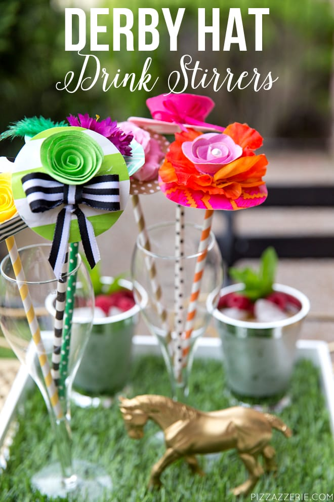DIY Kentucky Derby Drink Stirrers Tutorial