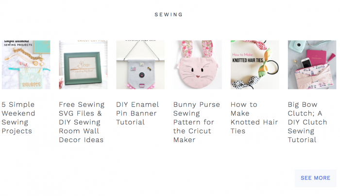 Free Sewing Tutorials & Patterns index