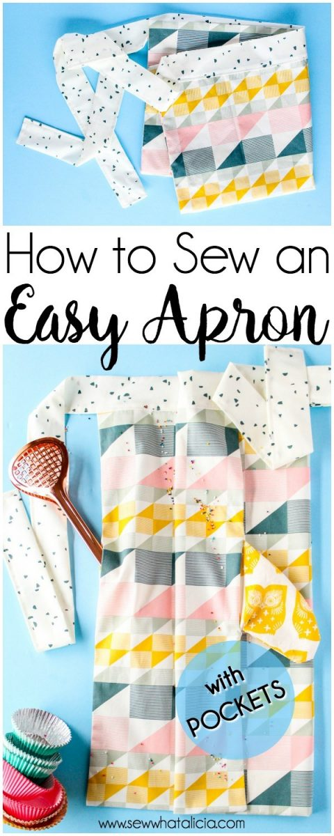 How to sew an Easy Apron