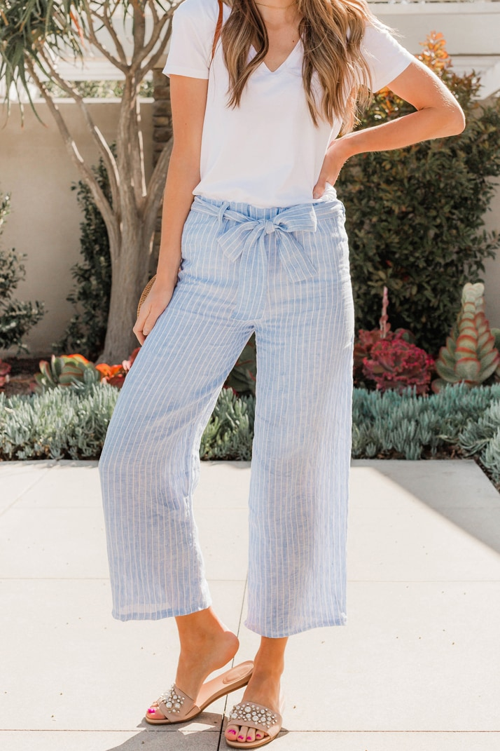 How to make cropped cotton pants, a free sewing tutorial