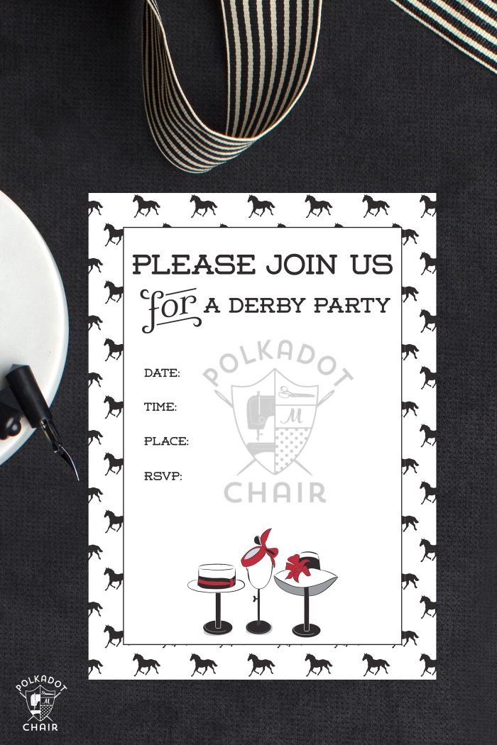 photograph regarding Kentucky Derby Games Printable known as 21 Lovable Kentucky Derby Social gathering Guidelines The Polka Dot Chair