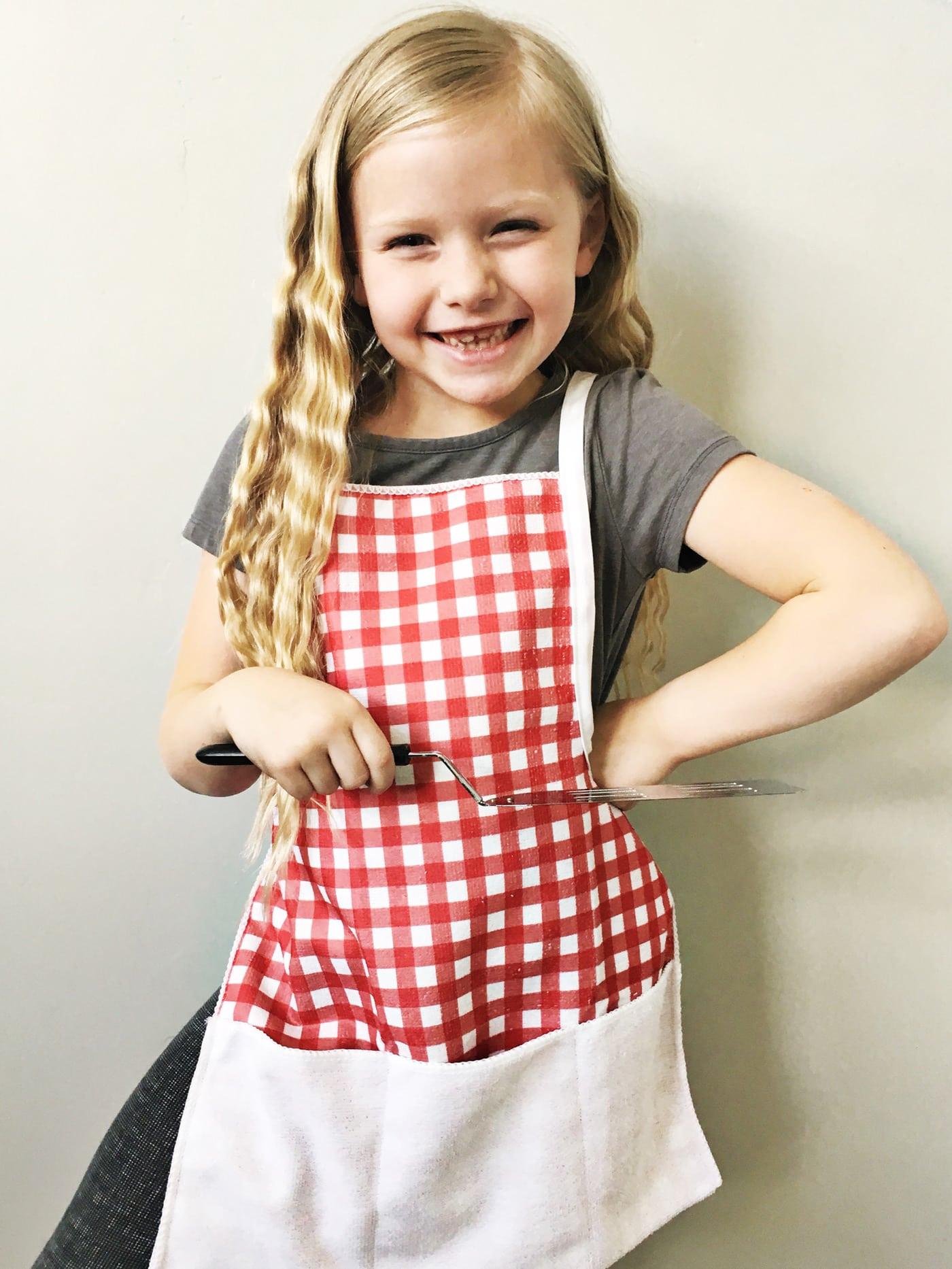 How To Make A Kids Bbq Apron The Polka Dot Chair
