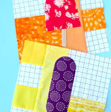 Popsicle Quilt Block Pattern