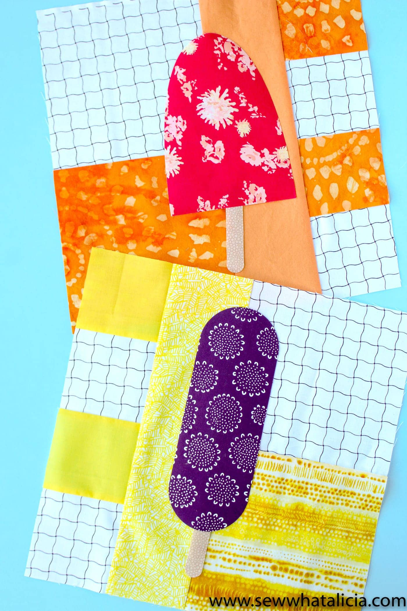 Popsicle Quilt Block Pattern - The Polka Dot Chair