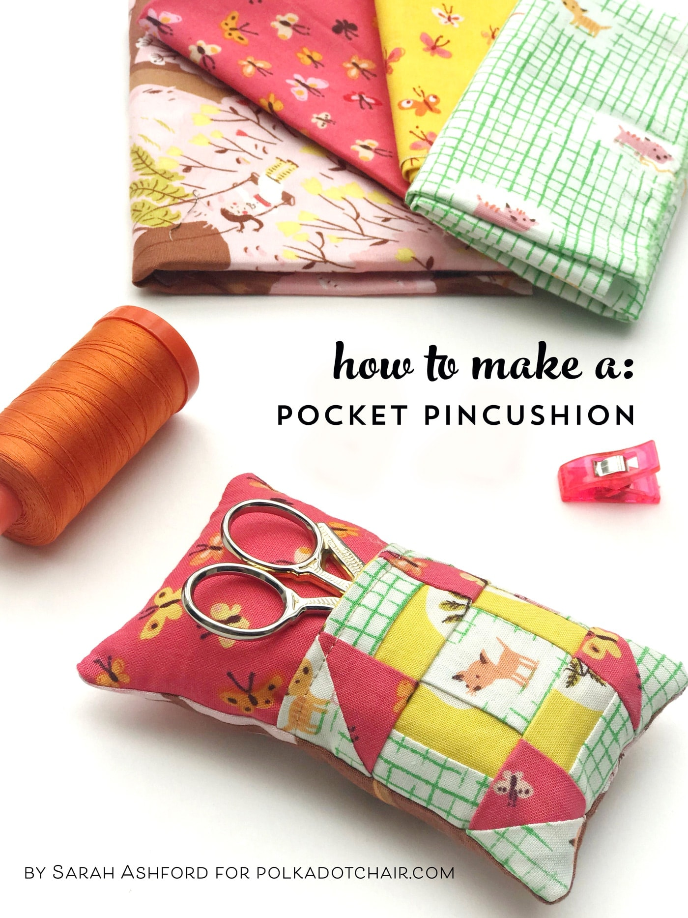 How to make your own Pincushion with a Pocket