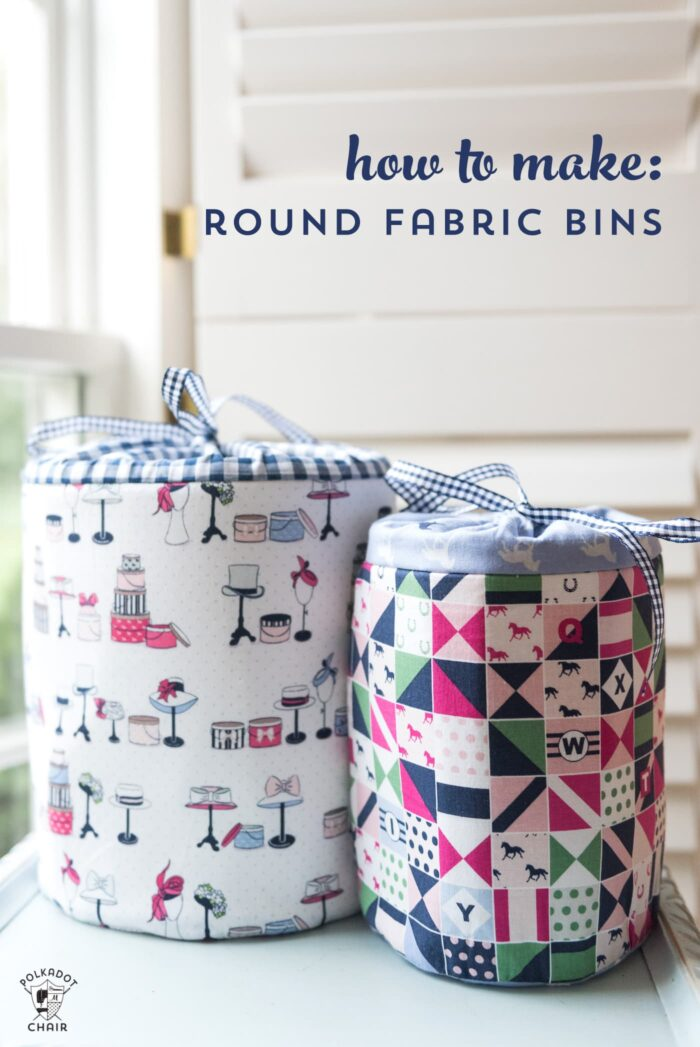 Learn how to make fabric storage bins with this sewing pattern. Round padded storage bins  sc 1 st  The Polka Dot Chair & 50+ DIY Motheru0027s Day Gift Ideas u0026 Projects | The Polka Dot Chair