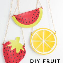 fruit purse on white table
