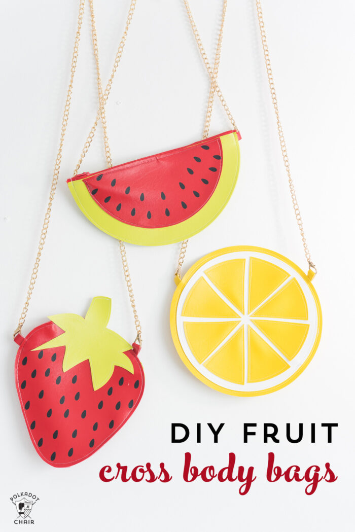 fruit purse on white table