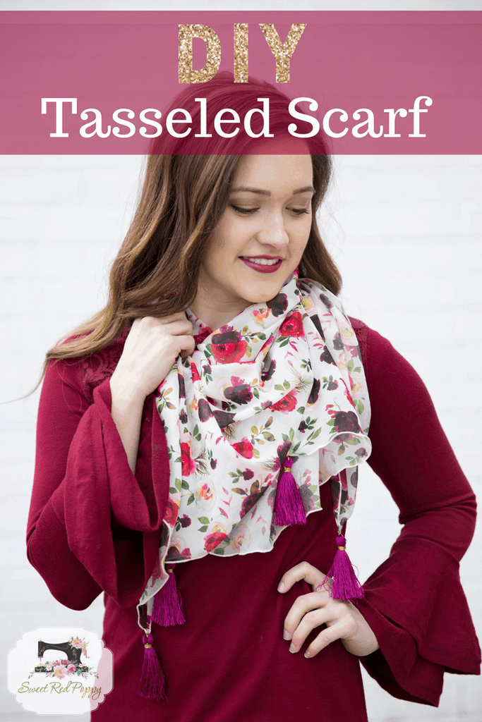 How to make a tassel scarf