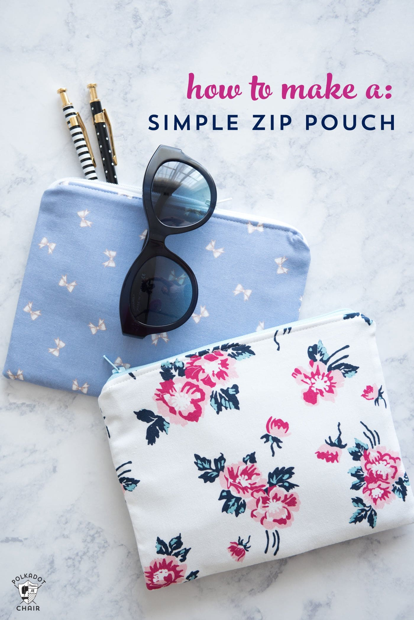 Simple Zipper Pouch Tutorial