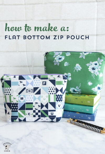Learn to Sew Series:  Stitch an Adorable Zippered Pouch