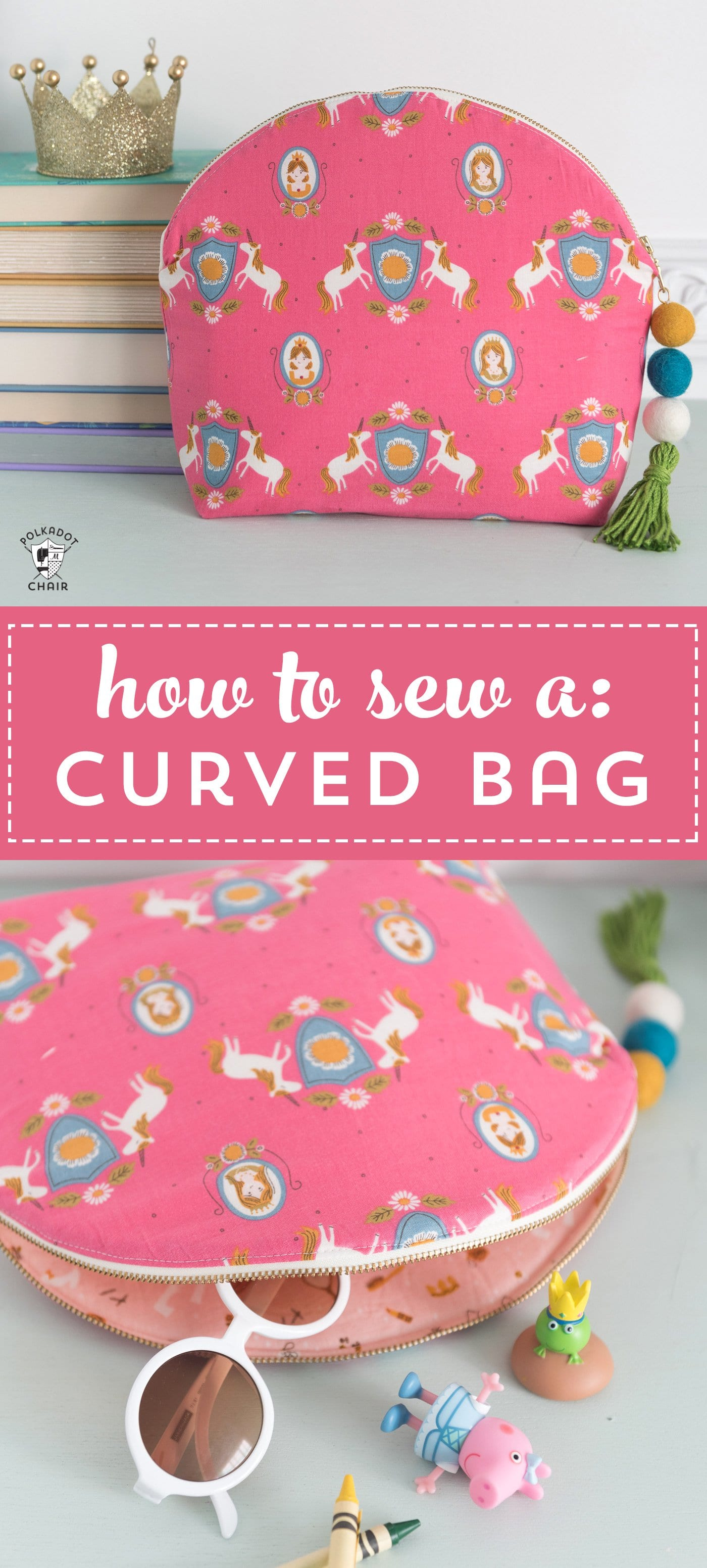 Learn How To Sew A Makeup Bag The Polka Dot Chair