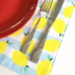 placemat with plate and fork and knife