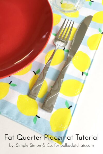 Quilted Placemat Patterns; a Fat Quarter Project