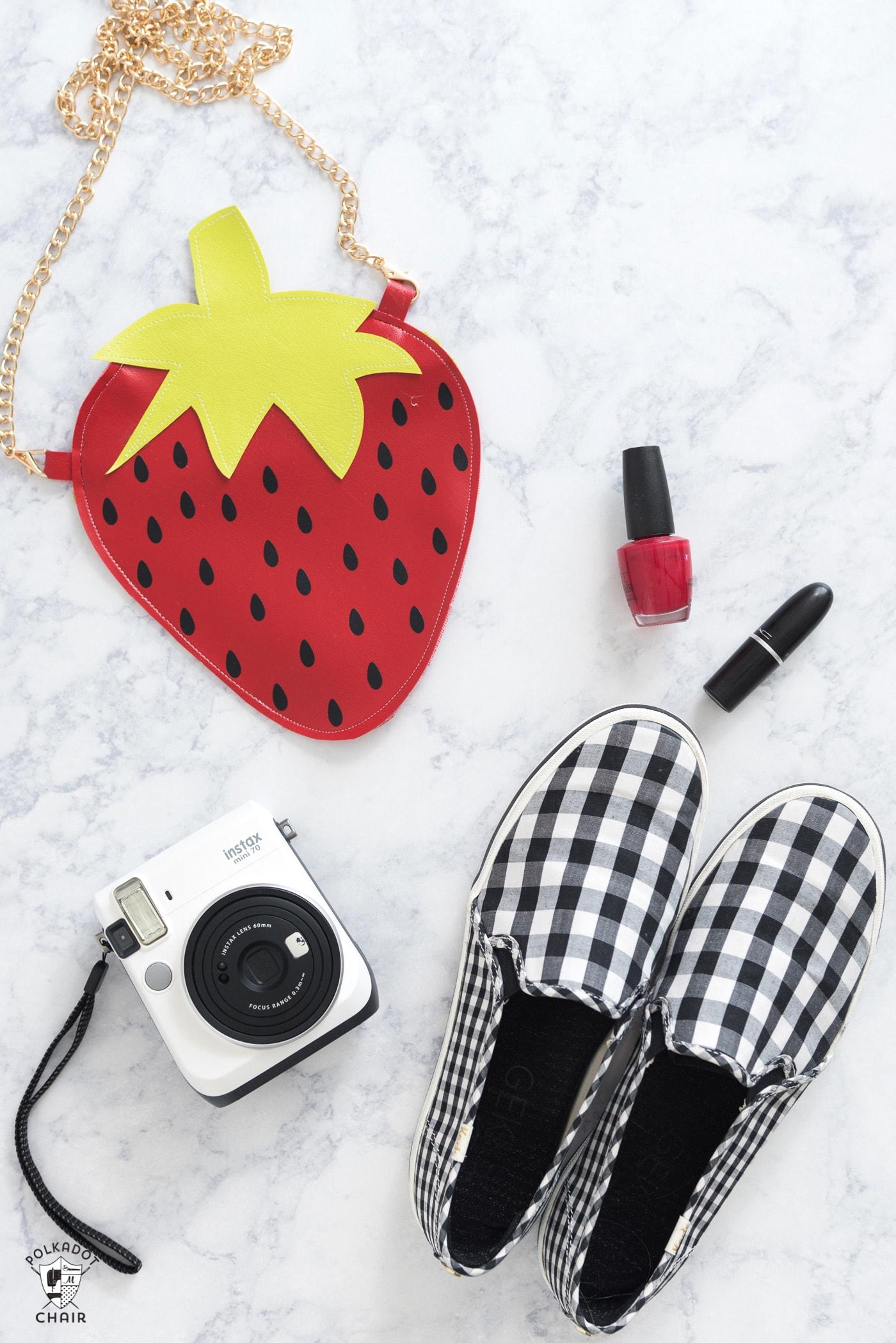 DIY Fruit Crossbody Bag Patterns, a Cricut Maker Project - the Polka ...