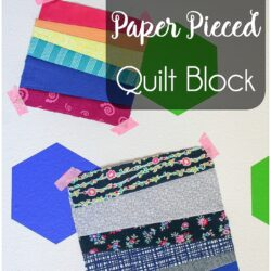 paper pieced strips quilt block