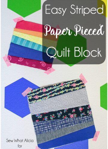 paper pieced strips quilt block