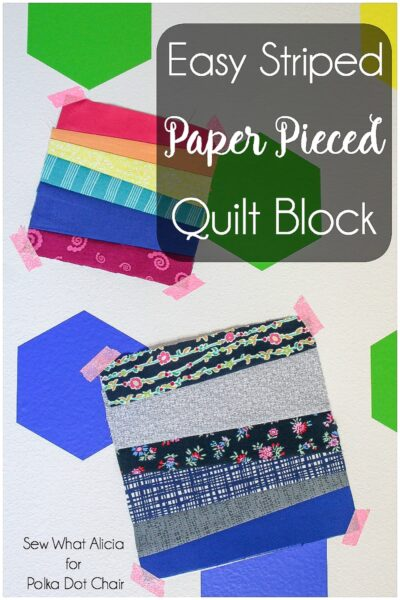 Easy Striped Paper Pieced Quilt Block Tutorial