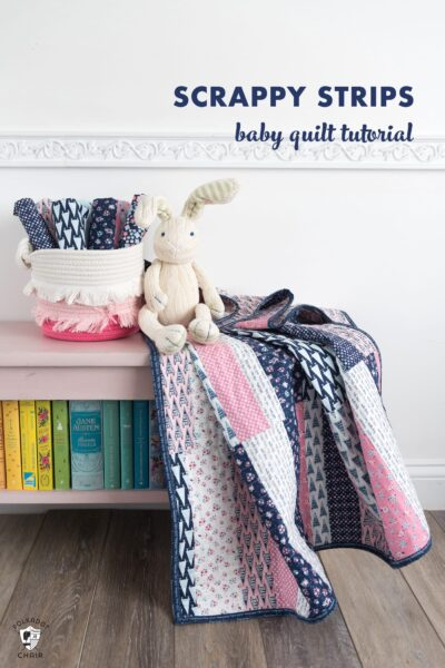 Easy Scrappy Strips Baby Quilt Tutorial & Quilt Pattern