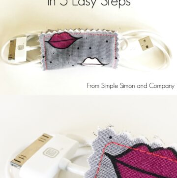 Simple DIY Cord Keeper Tutorial