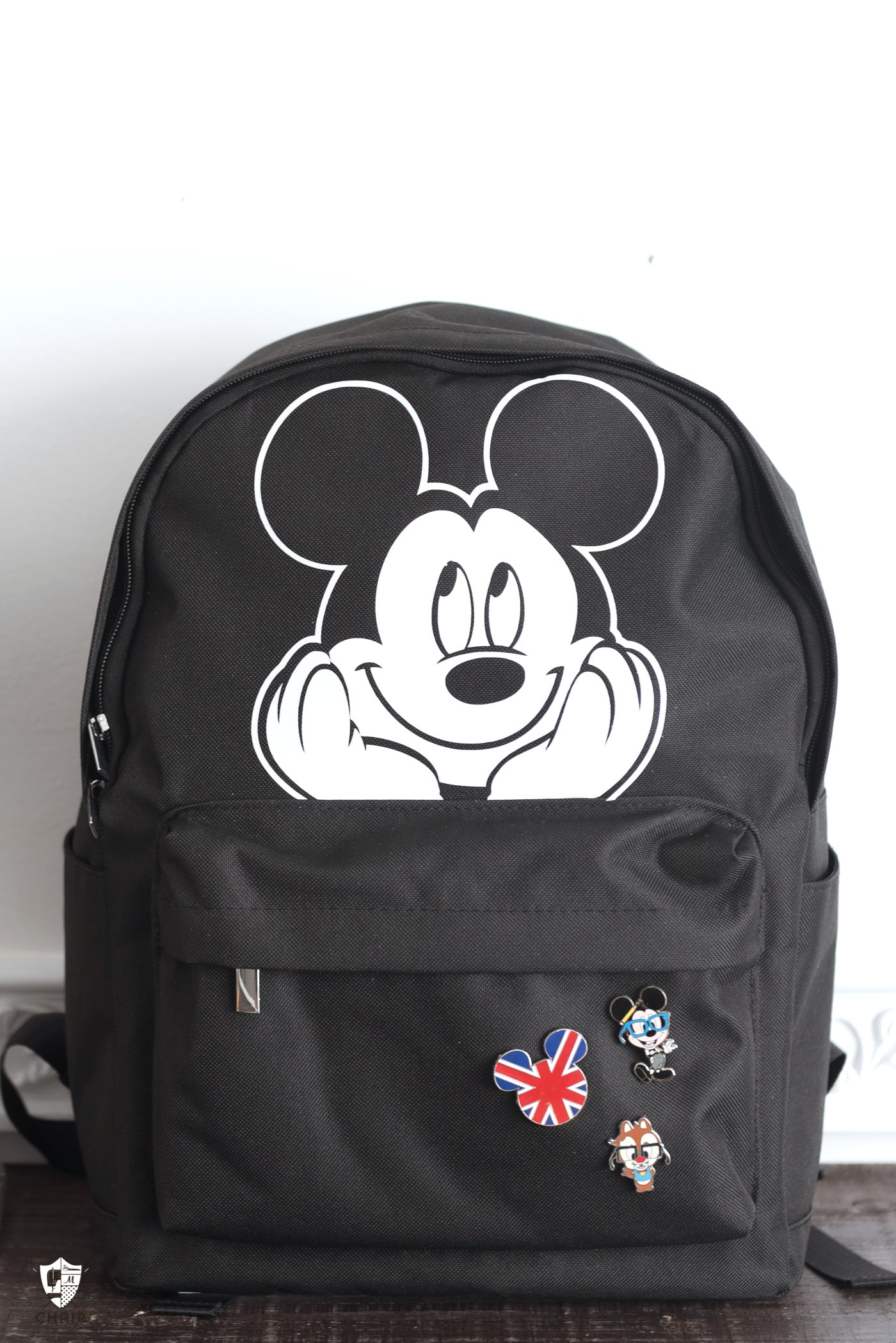 Custom Backpack on white wall