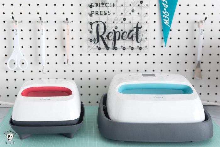 Cricut EasyPress on ironing board