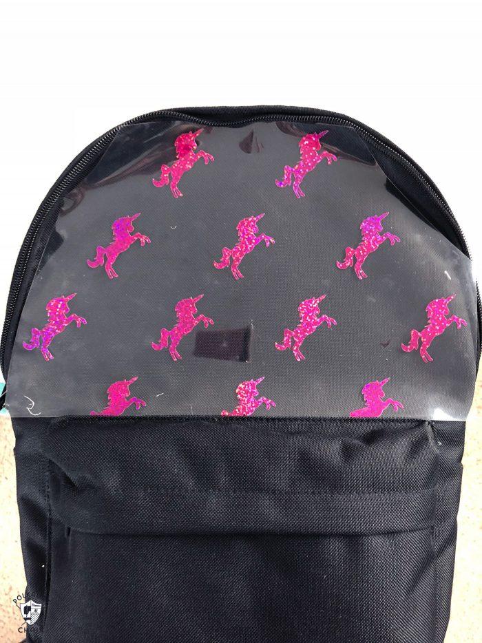 Custom Backpack on white wall