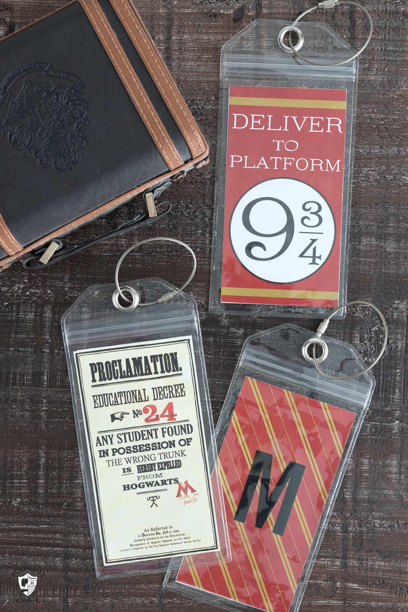 Harry Potter Printable Luggage Tags - The Polka Dot Chair