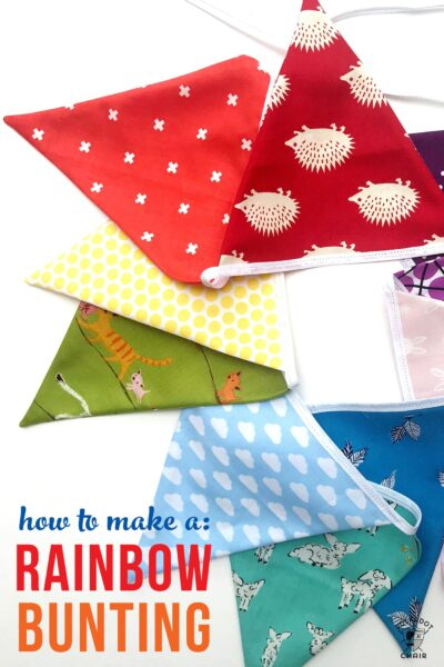 Learn how to Make an Adorable Rainbow Bunting