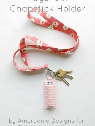Keychain Chapstick Holder