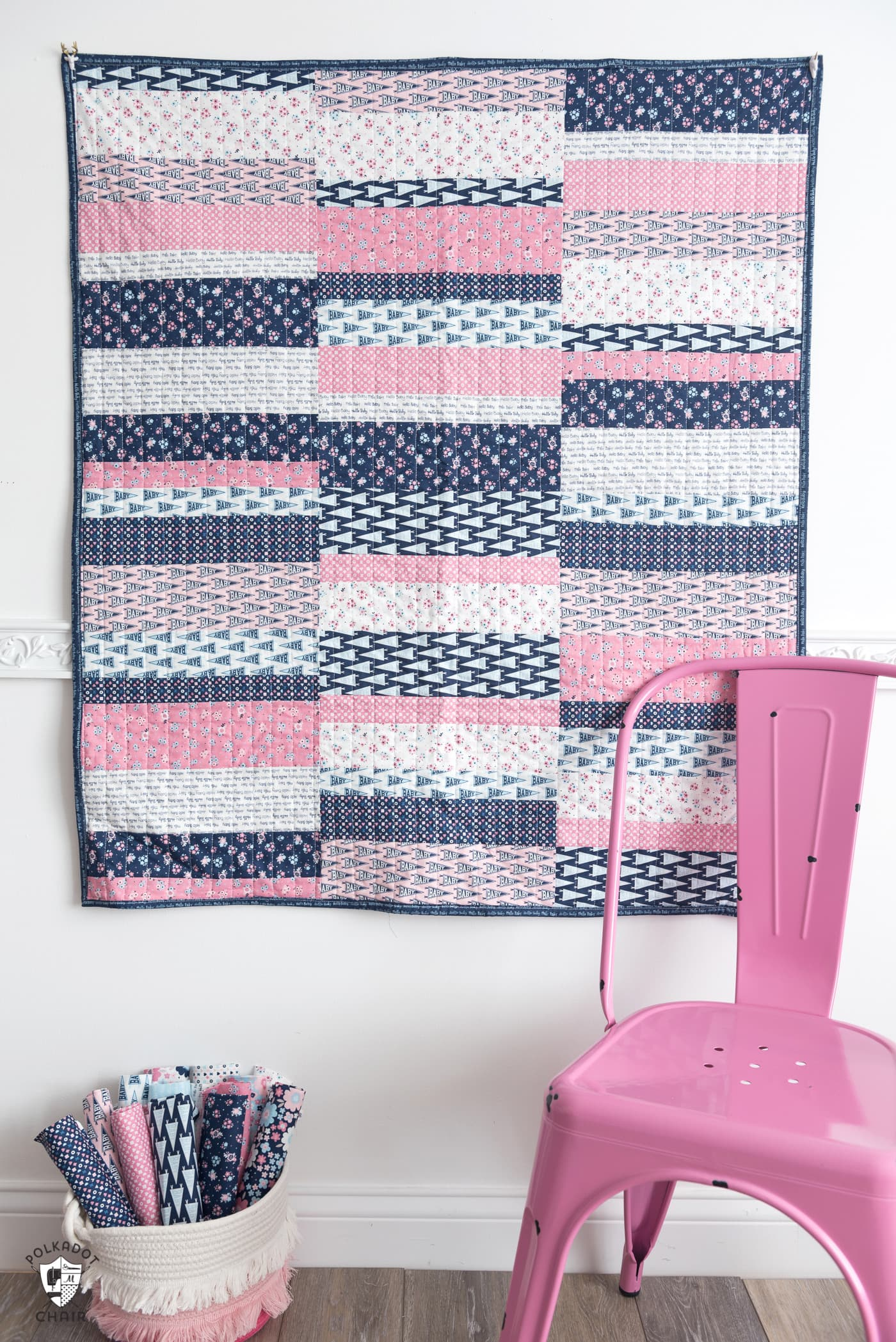 Easy Scrappy Strips Baby Quilt Tutorial Amp Quilt Pattern