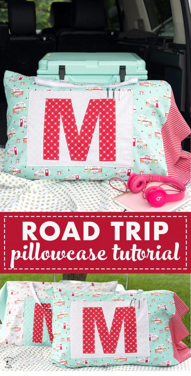 road trip pillowcase
