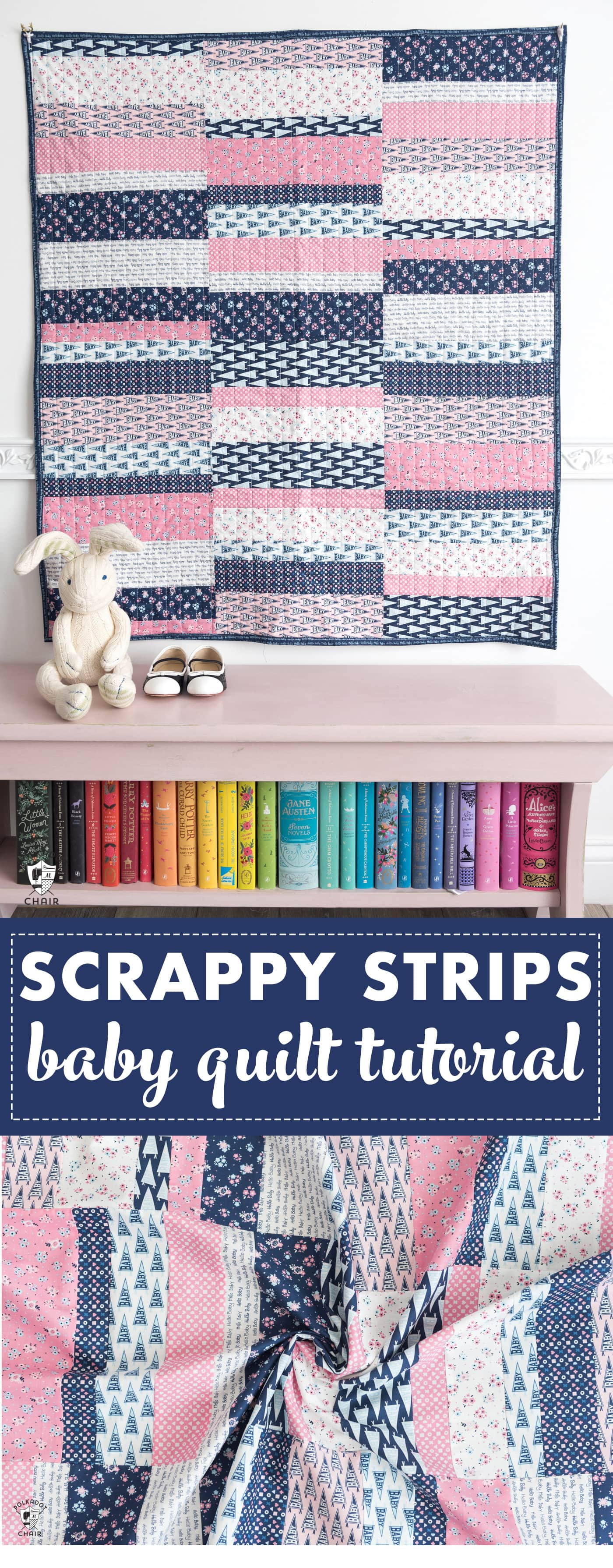 Easy Scrappy Strips Baby Quilt Tutorial Amp Quilt Pattern