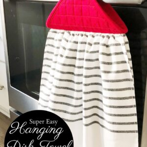 Farmhouse style hanging kitchen dish towel
