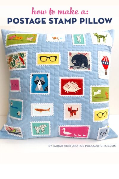 Scrap Busting Postage Stamp Quilted Pillow Tutorial