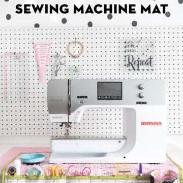 Stay Organized with this DIY Roll Up Sewing Machine Mat