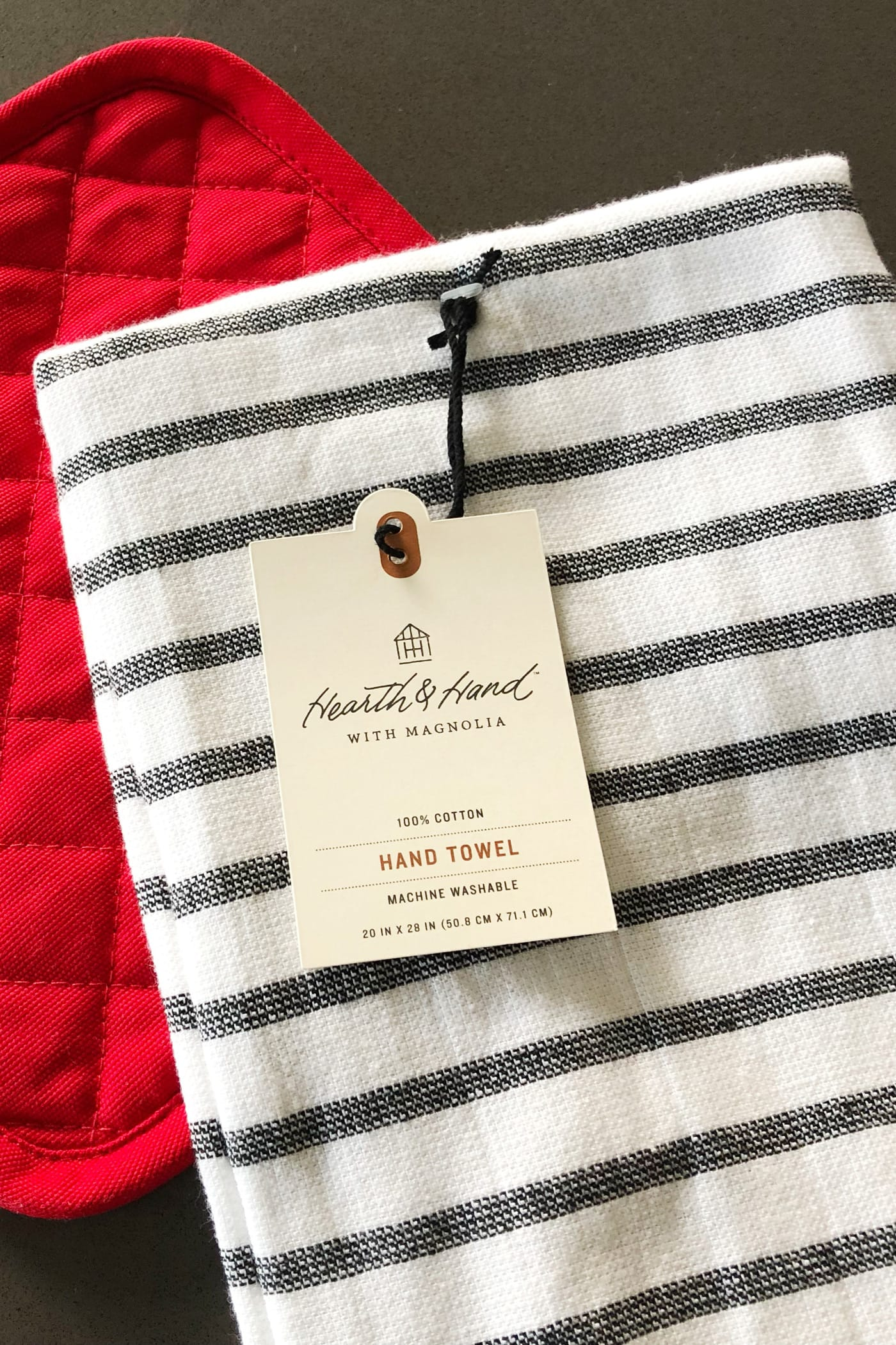 Farmhouse style hanging kitchen hand towel