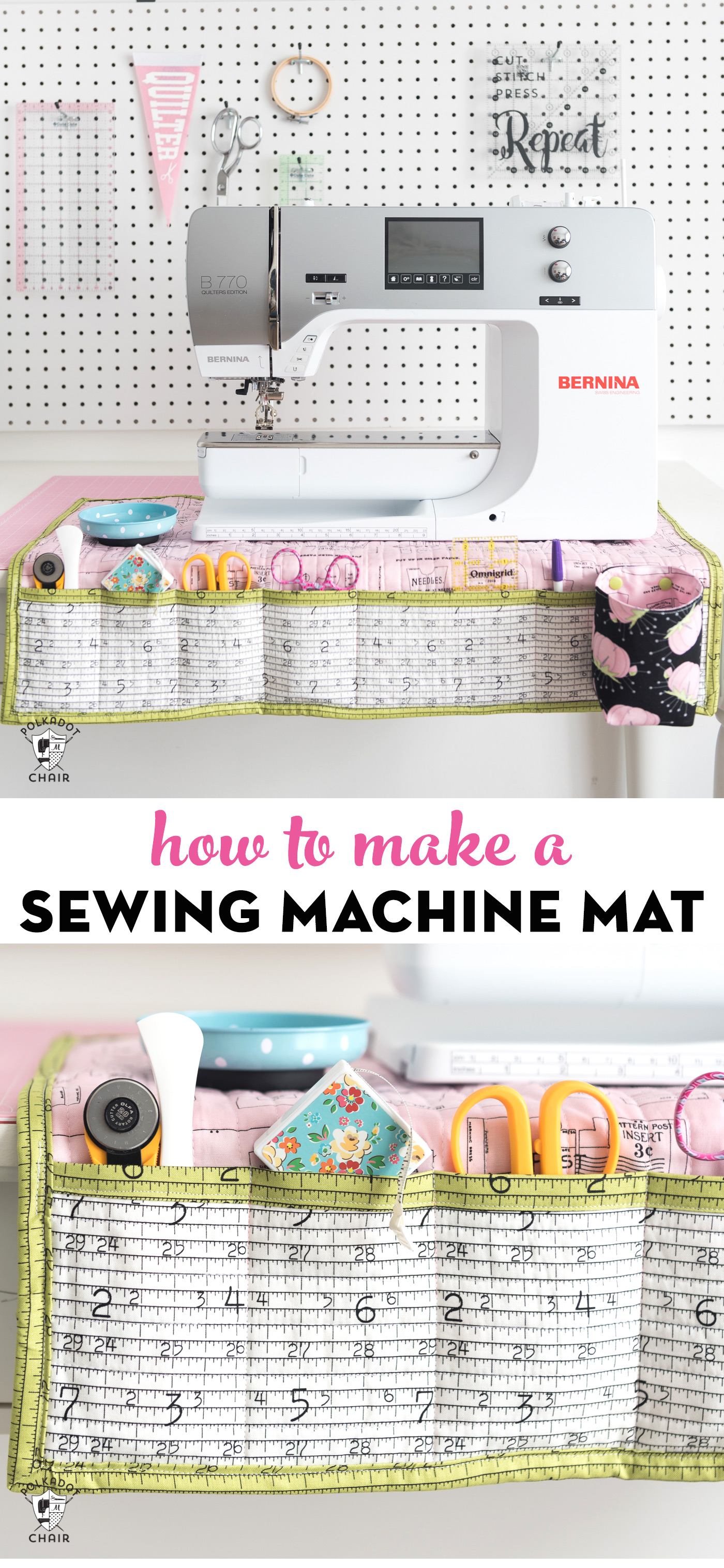 Stay Organized With This Diy Sewing Machine Mat The