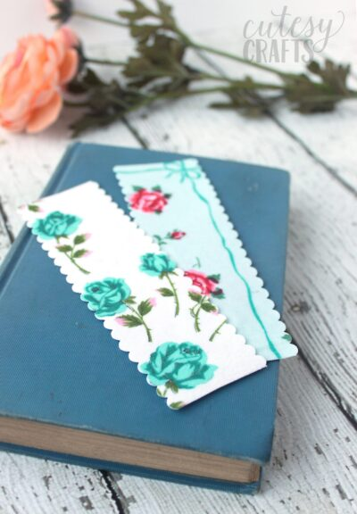 DIY Handmade Bookmarks Using Vintage Linens