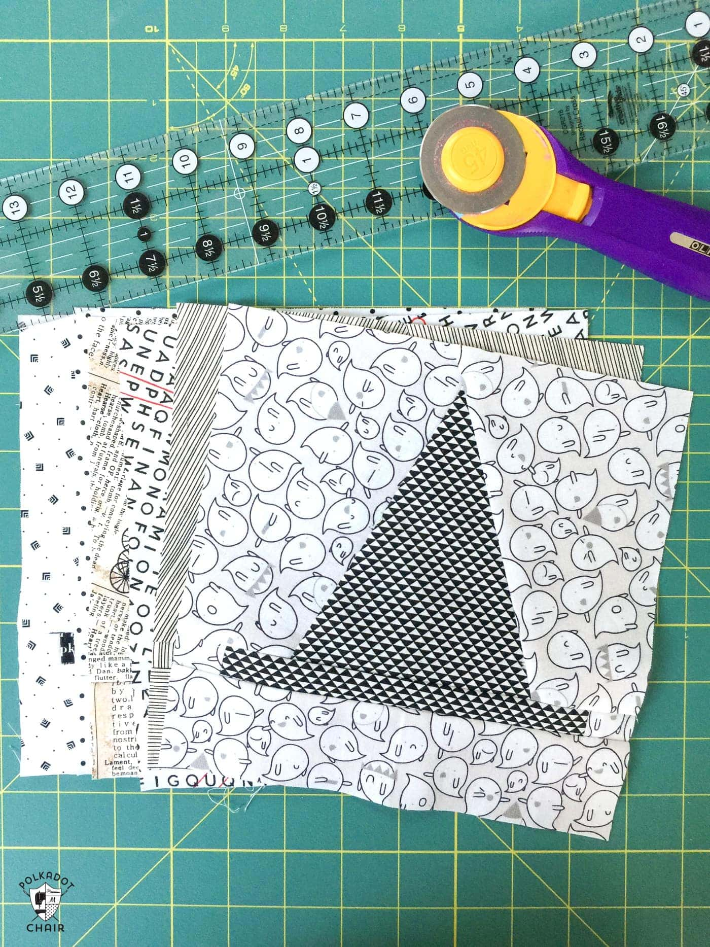 Halloween Haberdashery Quilt Along Cutting Tips The